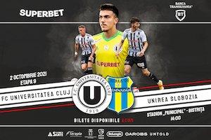 Bilete la  FC Universitatea Cluj - Unirea Slobozia