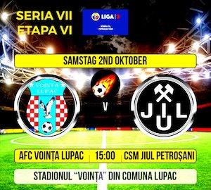 Bilete la  AFC Vointa Lupac - CSM Jiul Petrosani