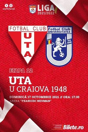 Bilete la  UTA Arad - FC U Craiova - CASA Liga 1